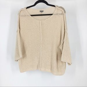 Aerie cream slouchy oversized sweater small petite